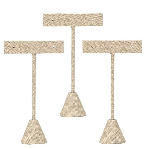 3 Linen Earring T Stand Display 4.75