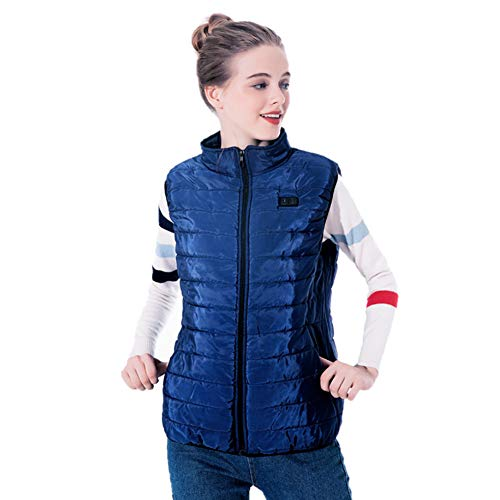 VOVI Electric Heated Jacket with Rechargeable Jannyshop Woman Insulated Heated Warming Vest with USB Charging for Outdoor Riding Skiing Fishing