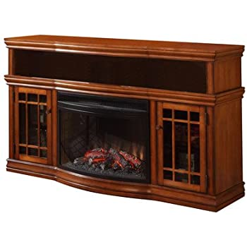 Amazon Com Dwyer 57 Quot Tv Stand With Electric Fireplace