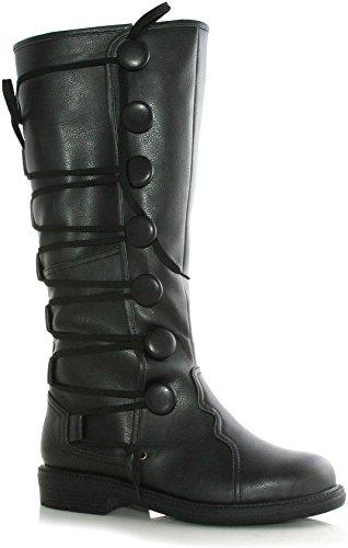 Ren Costume Faire Shoes (Ellie Shoes Inc Men's Renaissance Boot Black Size)