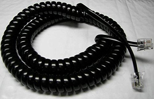 Black 12' Ft Handset Cord for Sprint Protege Phone by DIY-BizPhones