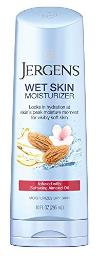 Jergens Wet Skin Moisturizer Cherry Almond Oil Infused 10 Ounce (295ml) (2 Pack)