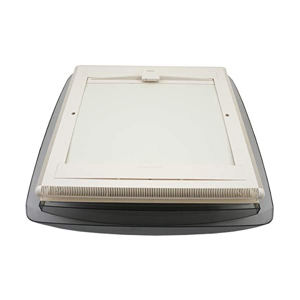 41piAR1b45L MPK VisionVent M getönte Klarglas Dachluke Dachfenster Dachhaube 40 x 40 mit Rollo und Netz