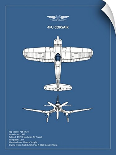 Mark Rogan Wall Peel Wall Art Print entitled BP CV F4U-Corsair 36