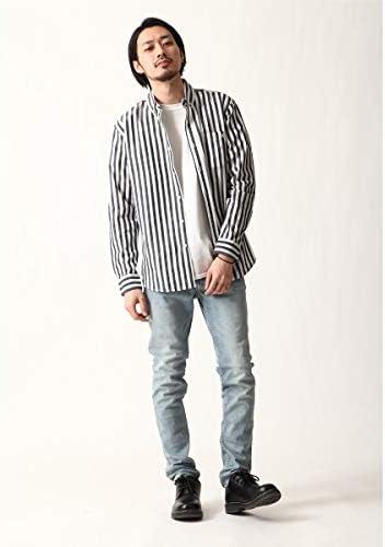 [ジップファイブ] ZIP FIVE ZIP FIVE × KANGOL ワンポイント刺繍長袖ブロードシャツ kgsa-zi1903