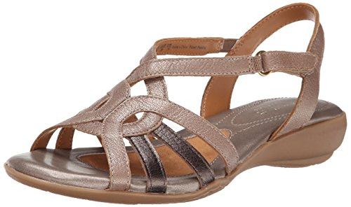 Naturalizer Women's Catrina Gladiator Sandal, Metallic/Multi, 9 M US