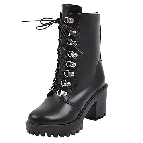 Stivali Eleganti Rotonde Pellestivali Snow Nero Boots Con Stivaletti Alto Autunno Cavaliere Martin Donna Inverno In Scarpe Invernali Tacco Challenge xHwd6YqYR