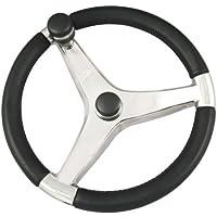 SCHMITT & ONGARO MARINE 7241521FGK / Schmitt Evo Pro 316 Cast Stainless Steel Steering Wheel w/Control Knob - 15.5 Diameter