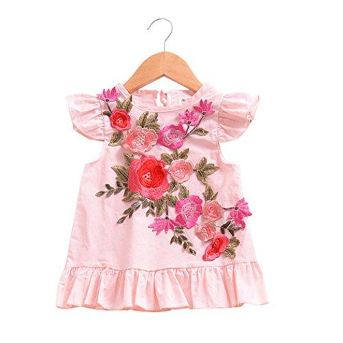 8c20c98cf DRESS start NiñA Vestido Plisado Con Flores NiñA Vestido De Princesa Fiesta  Infantil ...