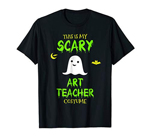 Scary Art Teacher Costume Halloween T-Shirt
