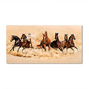 AH Decals Wall Art Vastu Horse Running Sticker for Living Bed Room Office Space PVC Vinyl(Size:- 40 cm X 80 cm)