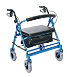 Essential Medical Supply Endurance HD Heavy Duty Walker, Blue, 36 Pound