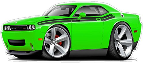 2009-2011 Challenger RT WALL DECAL Vintage 3D Cartoon Car Movable Stickers Vinyl Wall Stickers for Kids Room