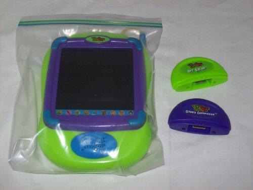 2001 Mattel PIXTER Lime Green w/ Art Safari and Story Composer