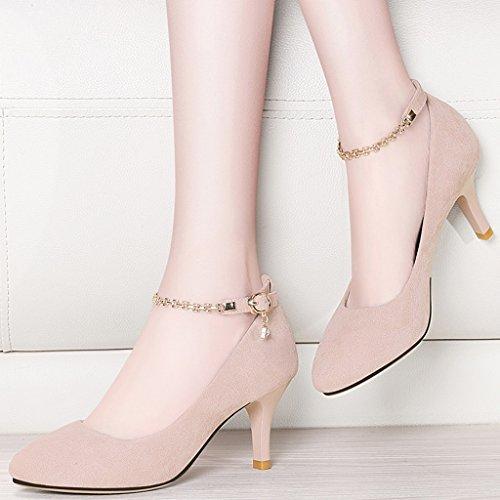 Zapatos HWF para de Zapatos punta mujer 1RfftqwZ