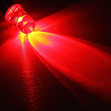 5mm 5V 12V DC Pre-Wired Water Clear Flat Top Super Bright LED Red Yellow Blue Green White (Blue) Muhan