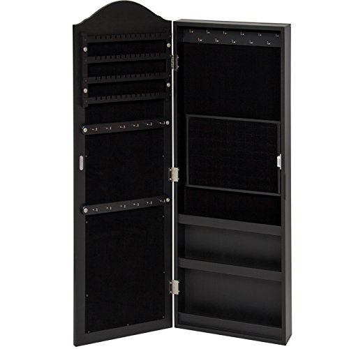 Best Choice Products Wall Mounted Mirror Jewelry Cabinet Armoire Black by Best Choice Products (Image #3)