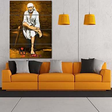 RAY DECOR Sai Baba Painting