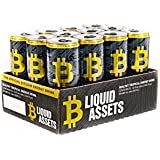 Bitcoin Energy Drink Healthy Energy 12/12oz Cans Liquid Assets Tropical Citrus - BTC Energy for Those Who Hustle (12 Pack)
