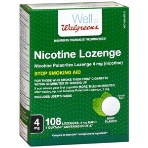 Walgreens Nicotine Lozenge, 4 mg, Mint, 108 ()
