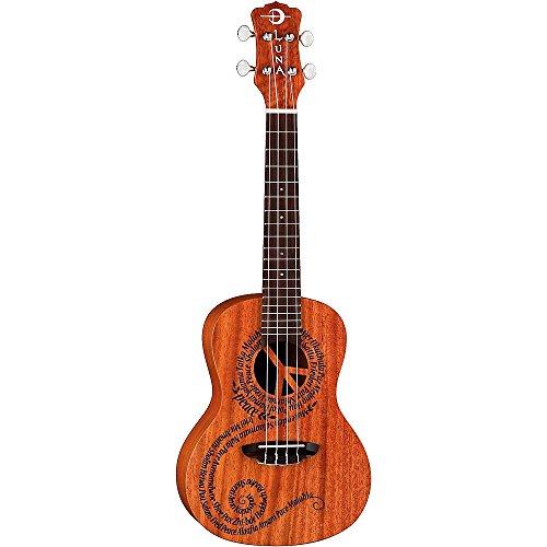 Luna MALU Mahogany Series Maluhia (Peace) Concert Ukulele by Luna Guitars