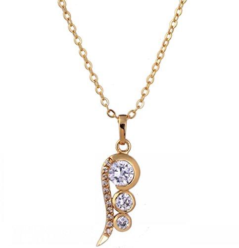 IPINK Luxury Butterfly Droplers Pendants Necklace Zircon Fashion For Women