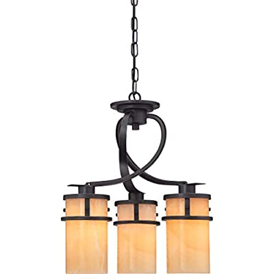 "Quoizel KY5503IB Kyle Faux Alabaster Downlight Mini Chandelier, 3-Light, 300 Watts, Imperial Bronze (20"" H x 17"" W) - KYLE DINETTE CHANDELIER DIMENSIONS: 19.5"" High (74"" Max Adjustable Height) x 17"" Wide, Weight: 16.06 LBS, Ceiling Canopy: 5.5"" Dia MEDIUM BASE LIGHT SOCKET: 3-100 Watt A19-Type Incandescent Bulbs, 300 Total Watts, Does Not Include Bulb(s); E26 Socket Compatible with Incandescent, CFL, Halogen or LED Bulbs Full Range Dimming when used with Dimmable Bulb and Dimmer Switch INSTALLATION: (1) 48"" Chain and Hardware to Mount Fixture to an Existing Junction Box Included (Junction Box Not Included), Installable on Sloped Ceiling - kitchen-dining-room-decor, kitchen-dining-room, chandeliers-lighting - 41piE1T4RVL. SS400  -"