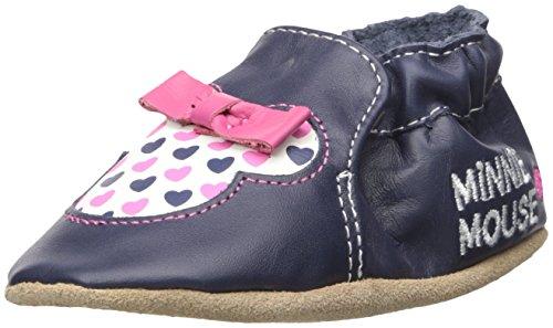 Robeez Kids' Disney Minnie Dots-K Crib Shoe, Girl-Navy, 12-18 Months M US Infant