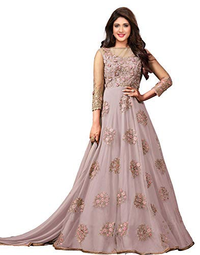 Women's net Dress Material marriage dress styles