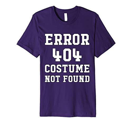 Good Last Minute Halloween Costumes (Mens Last Minute Halloween Shirt - Error 404 Costume Not Found Medium Purple)