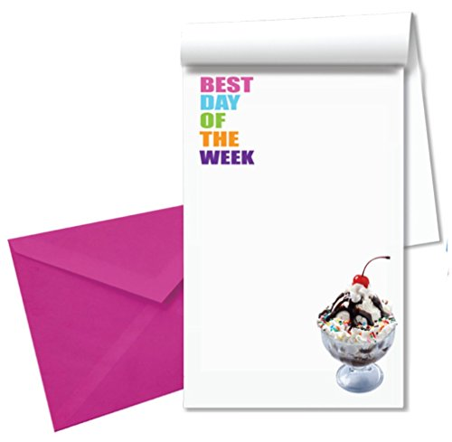iscream Best Day of the Week Stationery Notepad with Pen and Envelopes by iscream