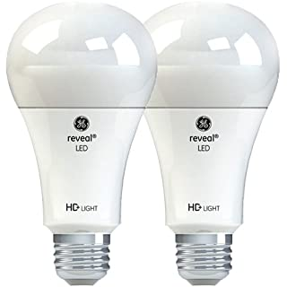 GE Lighting Reveal HD LED 13-watt (100-watt Replacement), 1140-Lumen A21 Light Bulb with Medium Base, 2-Pack - 98878