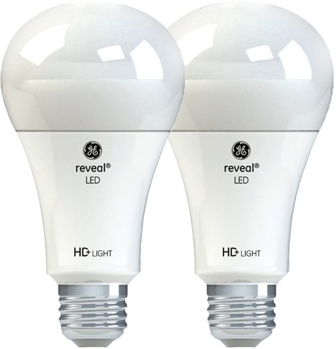 GE Lighting Reveal HD LED 13-watt (100-watt Replacement), 1140-Lumen A21 Light Bulb with Medium Base, 2-Pack
