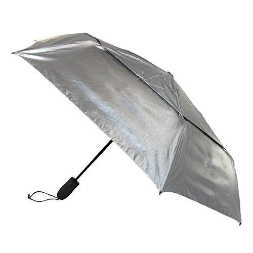 shedrain-shedrays-vented-auto-open-close-umbrella-silver