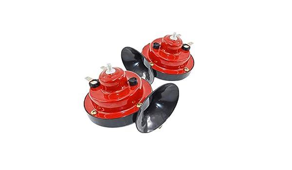 ETbotu 2 Piezas 12 V Caracol de Aire Horn veh/ículo Marino Barco Fuerte Alarma Kit para veh/ículo Coche Barco Moto Moto