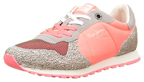 Pepe Jeans WoMen Verona W Trust Trainers, Pink Pink (Neon Pink)