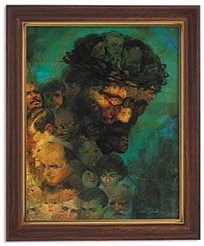 US Gifts Zdinak: in His Image Series William ZdinakPrint in Woodtone Finish Frame