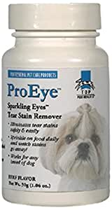 Top Performance ProEyes Pet Sparkling Eyes Tear Stain Remover, Beef, 2-Ounce