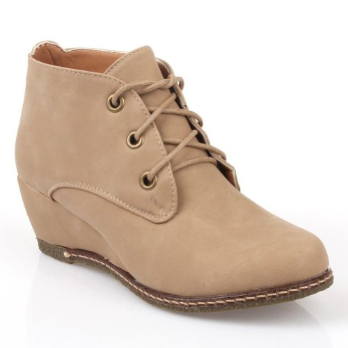 Wedges New CITY Beige PU Womens CLASSIFIED Rex HqxwvPO