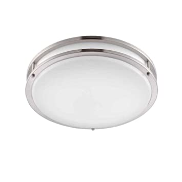 in and nickel p home brushed bay hampton oval profile en led low shade flushmount white light ceiling inch