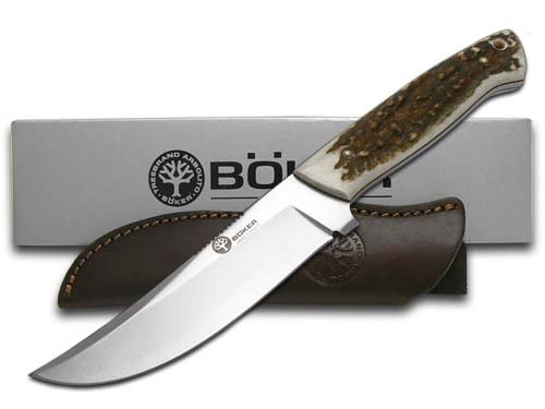 Boker Arbolito Deer Stag Full Tang Fixed Blade T6MoV ...