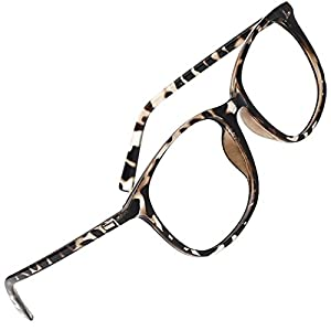 Slocyclub Unisex Oversized Non-prescription Glasses Round Clear Lens Eyeglasses