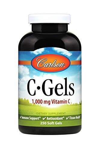 Carlson - C-Gel, 1000 mg Vitamin C, Immune Support & Tissue Health, Antioxidant, 250 soft gels ()