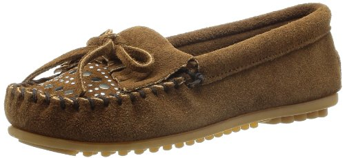 Minnetonka Women's Studded Moccasin,Dusty Brown,6 M (Studded Leather Moccasins)