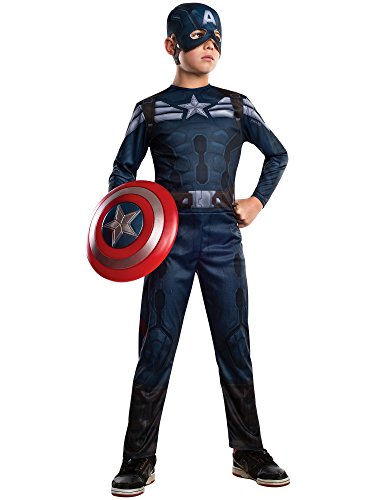 [Rubies Captain America: The Winter Soldier Stealth Suit Costume, Child Large] (Captain America Suit Kids)