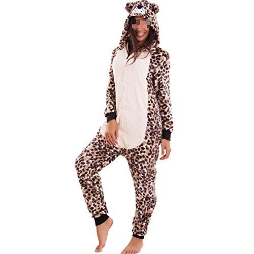 donna leopardo felpato Toocool leopardato Pigiama carnevale costume B1624 eco kigurumi panda volpe pelliccia aO5zO