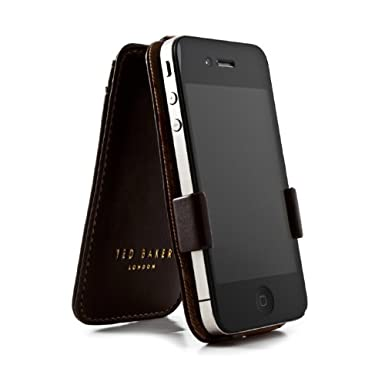 ad65807f1 Ted Baker iPhone 4S Case - Leather Style - Swallows - Brown Red   Amazon.co.uk  Electronics