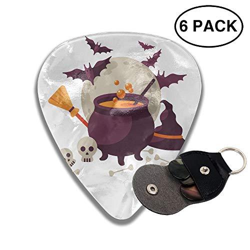 Karen Felix Classic Guitar Pick (6 Packs) Bat Halloween Drink Celluloid Guitar Picks Plectrums for Guitar Bass