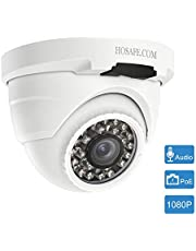 HOSAFE POE Camera Outdoor 1080P with Audio, Home Security Surveillance Camera, 50ft Night Vision, Motion Detection Alert, Compatible with ONVIF NVR or Software (Blur iris, iSpy, Synology, etc)