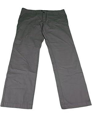 Calvin Klein Jeans Men's 38x32 Straight Leg Zipper Fly Cotton Pants Charcoal